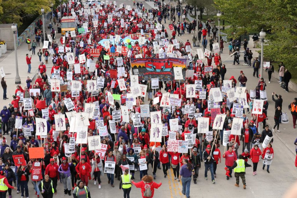 'We are hopeful': Chicago teachers picket on 10th day of strike